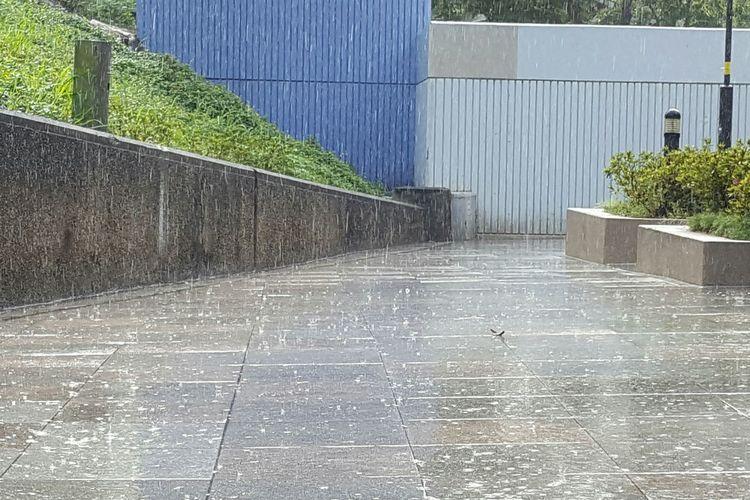 Rain. Rain Raindrops Hong Kong Tsuen Wan