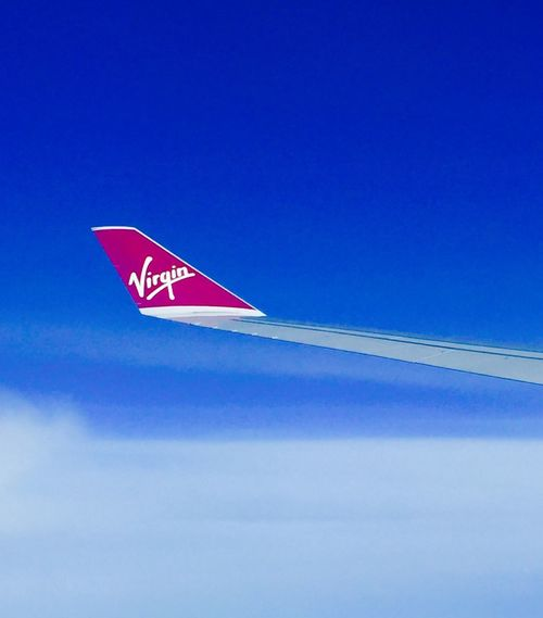 Travel Photography Traveling Sky Red Blue From My Point Of View No People Air Vehicle Eye4photography  Iponeonly EyeEm Hello World EyeEmBestPics Airplane EyeEm Best Shots Instamood Mode Of Transport Outdoors Commercial Airplane Day Low Angle View Nature Close-up virfi Virgin Atlantic Intheair The Great Outdoors - 2017 EyeEm Awards An Eye For Travel