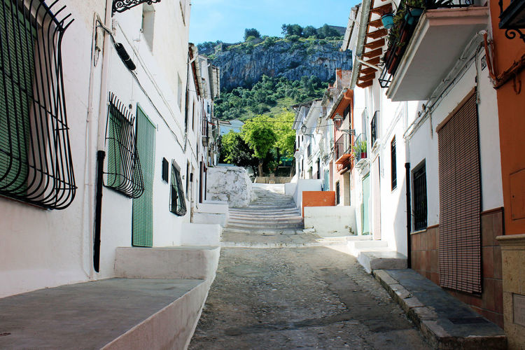 Holiday SPAIN Alley Architecture Balcony Building Exterior Built Structure Day Europe Mountain No People Outdoors Sky Street The Way Forward Town Traditional Travel Destinations Tree Window Xativa