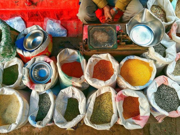 Multi Colored Market Close-up Variation Grains Colours Colors Seller Nepal Katmandhu Multigrain EyeEm Huawei Smartphones Huawei P9 Leica Finding New Frontiers