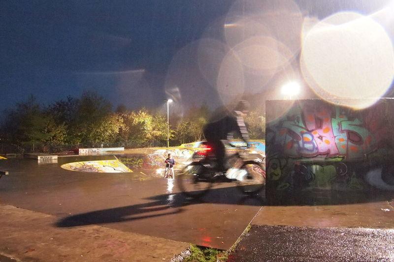 Cycling Dundee Dundee, Uk Dundee,Scotland Rain Skate Park, Dundee
