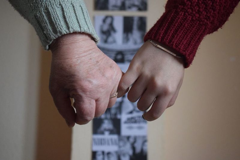 Human Hand Human Body Part Real People Close-up One Person Women Grandma Niece  Bonding Day People Adults Only Adult