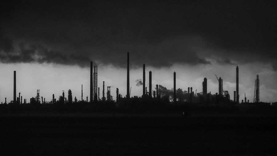 Industrial Landscape Clouds And Sky Smoke Light And Shadow Refinery Jurongisland