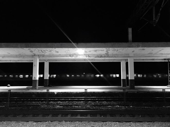 Train Station Train Light Night
