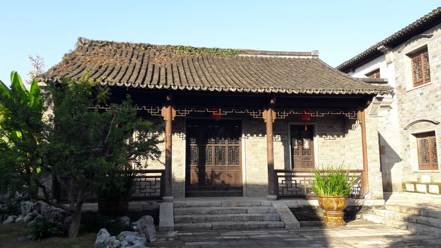 Architecture Built Structure Building Exterior Building Nature Roof Day Sky House Clear Sky Entrance Outdoors History Courtyard  Residential District Travel Destinations China Nanjing Roof Tile The Past No People Tradition Heritage Traditional Traveling
