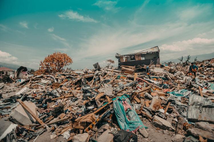 Destruction after natural disaster