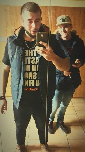 Friends Style Mirror Photo