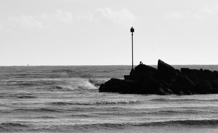 Dreaming about the infinite ocean... France Bretagne Ocean Sea Monochrome Blackandwhite Contrast Bretagnetourisme DSLR Finistere Waves Check This Out First Eyeem Photo