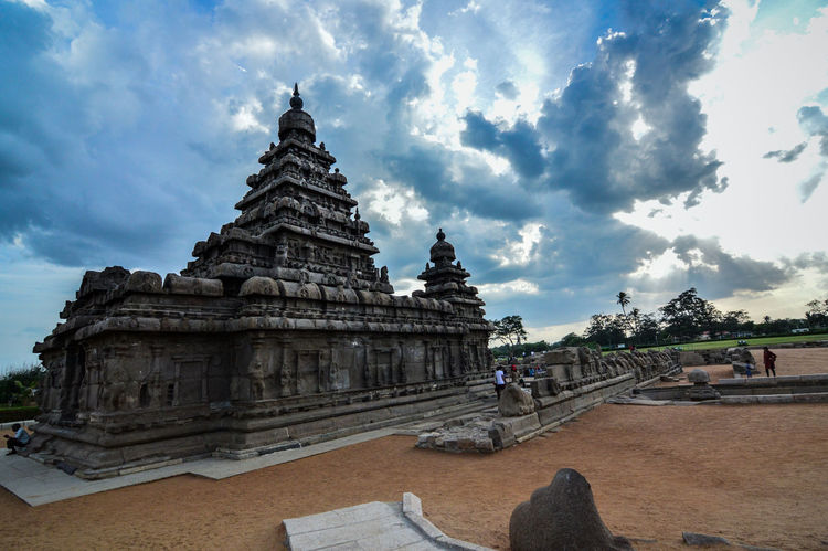 Mahabalipuram, India Non-urban Scene Ancient Architecture Indiatourism Heritagesite Tamilnadu, India Seashoretemple Temple Travel Destinations Sky Shore Seascape Sea Scenics
