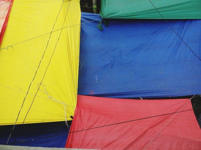 Lonas en el tianguis. Yellow Blue Business Finance And Industry Red Outdoors Close-up First Eyeem Photo Art Is Everywhere Tianguis Mercado Lonas Colors Amecameca De Juárez.