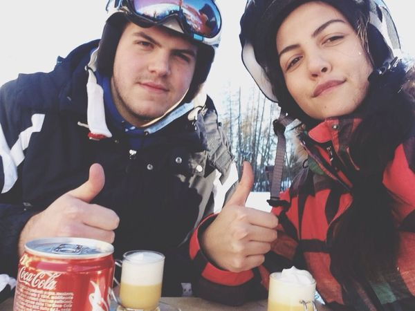 Snowboarding Cortina D'Ampezzo Mountain Stream Drinking