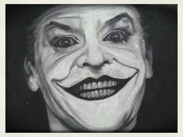The Joker Check This Out Art Enjoying Life my joker oil pastel portrait
