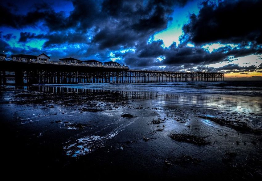 """All The Right Reasons"" The Crystal Pier in Pacific Beach at the peak of the blue hour. Sunset San Diego Pier Crystal Pier Blue Hour Paul W Koester Photography Artist Perspective All The Right Reasons"