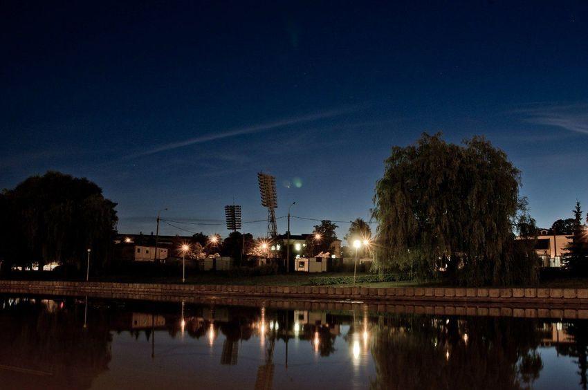 Belarus Minsk Night Night Scene No People Longexposure Lights Mobility In Mega Cities