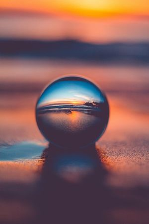 See the world in a new way. Sunset Lensball