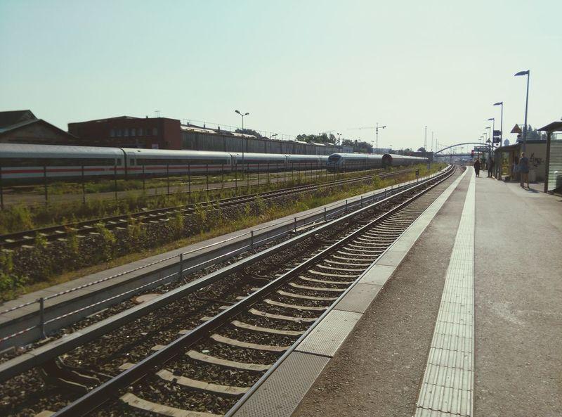 Good Morning Berlin Train Tracks Sunny Day Morning Sky