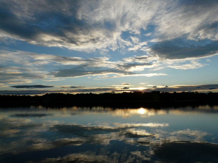 Beauty In Nature Calm Cloud Cloud Cloud - Sky Clouds And Sky Cloudy Coastline Idyllic Lake Nature No People Non-urban Scene Outdoors Paradise Reflection Reflections Scenics Sky Sunset Tranquil Scene Tranquility Tuross Lake Water