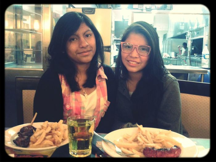 Best Friends Eating Out Girls :p