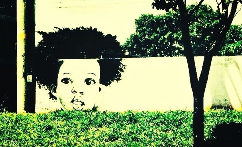 Street Art Baby Thug Paint Grafitti