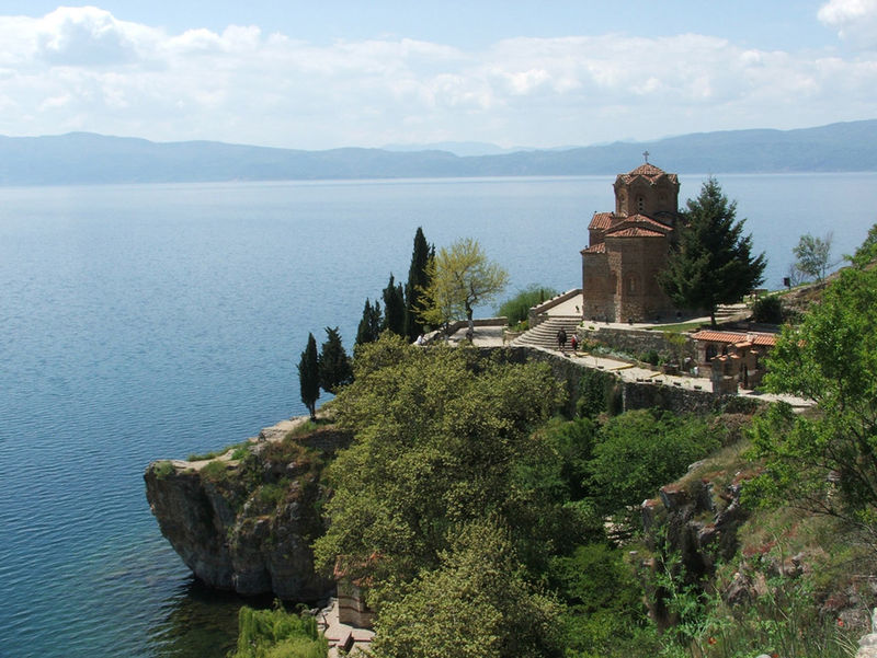 Architecture Beauty In Nature Built Structure Church Of St. John At Kaneo Church Of St. John The Baptist Day EyeEmNewHere Lake Macedonia Nature No People Ohrid Ohrid Lake Ohrid Macedonia Outdoors Scenics Sky Tourism Travel Travel Destinations Tree Water