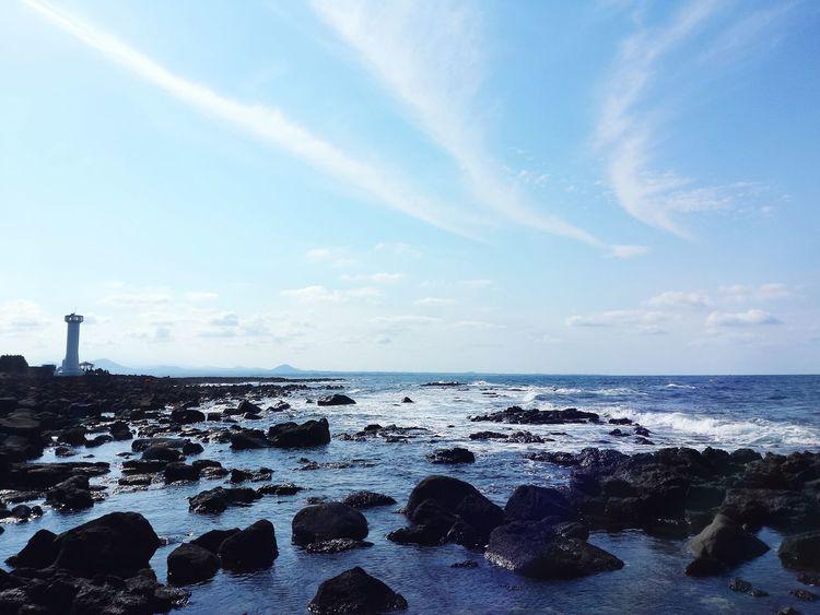 JEJU ISLAND  Udo Sky Sea Cloud Ocean Korea