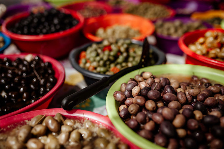 Food Food And Drink Freshness Healthy Eating Wellbeing Still Life No People Choice Large Group Of Objects High Angle View Selective Focus For Sale Colorful Market Market Stall Alentejo Portugal Mediterranean Food Olives Olives & Olives Snack Colors The Foodie - 2019 EyeEm Awards