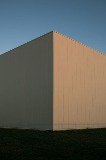 Exterior of building against clear blue sky