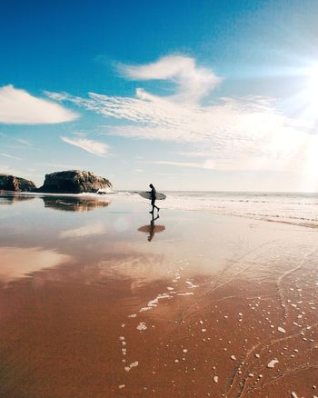 Surfer Solitude Beach Passion Peace Surfs Up Leaving Time Off Enjoying Life The Moment - 2015 EyeEm Awards