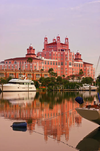 Architecture Boat Building Exterior Built Structure Day Nautical Vessel Pass A Grille Pink Motel Reflection Saint Petersburg Florida Sky Tampa Bay Tourism Travel Destinations Water Waterfront