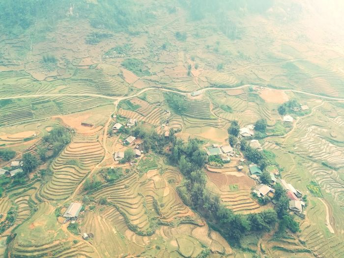 Rice paddy fields @ Fansipan Mountain Sapa Vietnam Paddy Field EyeEm Selects EyeEm Day Daylight Sand Dune Aerial View Arid Climate Backgrounds Agriculture Landscape Sky View Into Land Arid Landscape Wide Shot Extreme Terrain Physical Geography Wide Rugged Cultivated Land