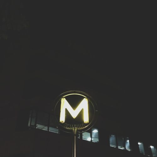 Nightphotography Subway Metro Paris Bonjour Paris Turn Your Lights Down Low