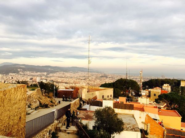 Built Structure Architecture Building Exterior Sky Cityscape City High Angle View Residential Building Cloud - Sky House Outdoors Sunset No People Roof Day Tree Nature Barcelona, Spain Barcelona SPAIN Bunkers Del Carmel Adapted To The City Lost In The Landscape Connected By Travel