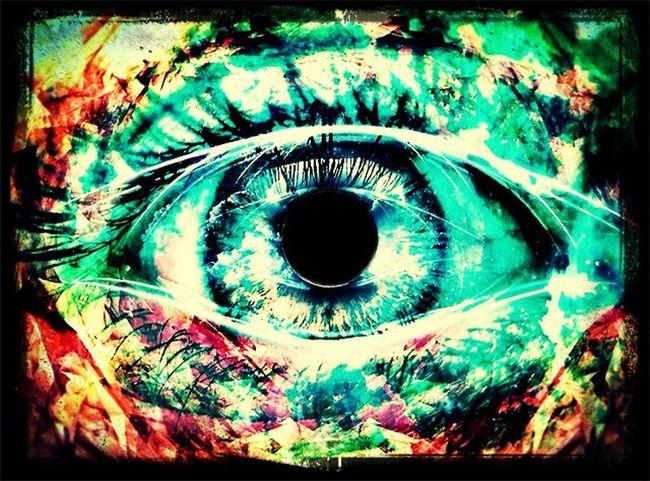 Magic Eye Eye Colorful Draw