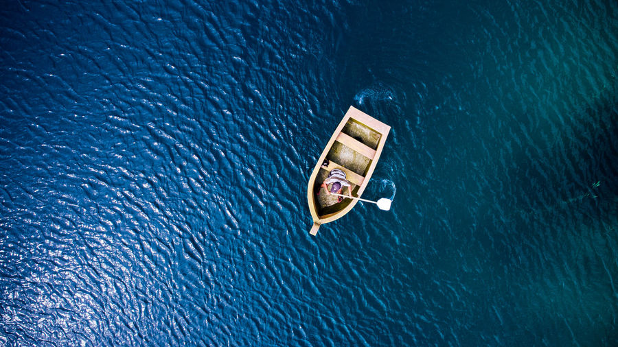 Boat Water Sea No People High Angle View Communication Nautical Vessel Transportation Rippled Nature Outdoors Business Day Floating On Water Floating Sign Blue Wealth Toy Sinking
