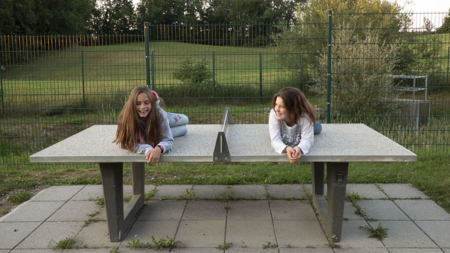 Girls on the table dance gymnastic gym fun first eyeem Photo Adult Bench Casual Clothing Child Day Emotion First Eyeem Photo Full Length Girls Hairstyle Long Hair Nature People Plant Seat Sitting Teenager Togetherness Two People Women Young Adult