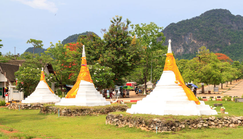The three pagodas at the border between Thailand and Myanmar Ancient Ancient Civilization Architecture Border Boundary Cone Day Grass History International Border Myanmar Nature No People Old Ruin Outdoors Pagoda Place Of Worship Pyramid Religion Sculpture Spirituality Statue Thailand Travel Destinations Tree