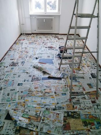 Some time ago... Paint Job Painting Renovating Newspapers Ladder Room With A View