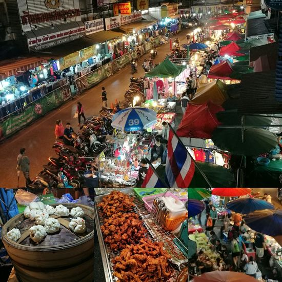 High Angle View Market Market Stall Bazaar Food Thai Food