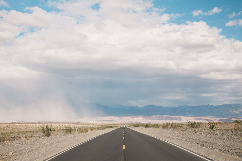 Arid Climate Arid Landscape Beauty In Nature Cloud - Sky Day Death Valley Death Valley National Park Desert Landscape Mountain Mountains Nature Nature No People Outdoors Road Roadtrip Sandstorm Scenics Sky Storm The Way Forward Tornado Transportation Twister California Dreamin