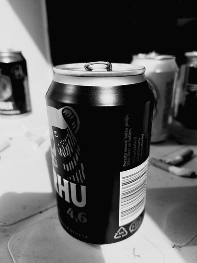 #beer #beercan #party #drunk EyeEm Selects Drink Aluminum Close-up Canister