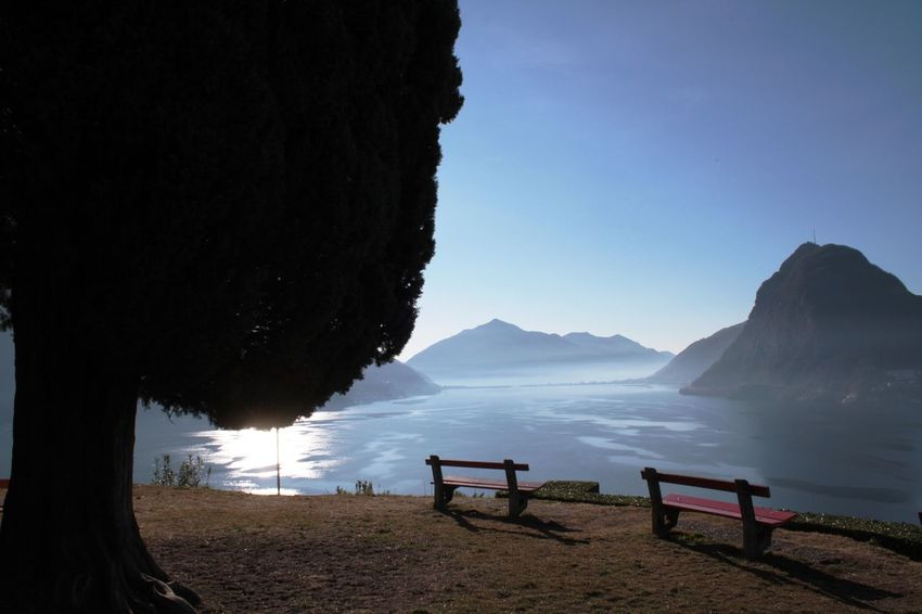 blue sky lake lake view lugano, switzerland mountains. view of monte san salvatore from parco Blue Sky Lake Lake View Lugano, Switzerland Mountains Monte San Salvatore Parco San MIchele Sky View Lugano TICINO ♡ Switzerland Canon Eos 1000d Wiew Pastel Power Hidden Gems  Two Is Better Than One