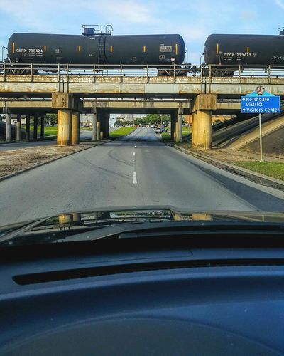 Home bound. Car Bridge - Man Made Structure No People Outdoors Train Railroad Highway Transportation Smartphonephotography Eyeemvision