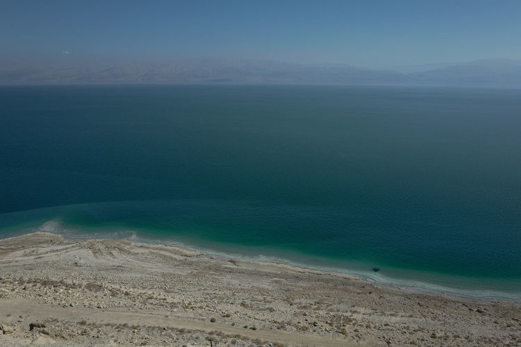 Bird's View Jordan Beach Beauty In Nature Bird Perspective Blue Day Dead Dead Sea  Depth Of Field Israel Nature Nature Protection Negev  No Life No People Outdoors Salt Water Sandstone Scenics Sea Tranquility View From Above Water Yellow Cliffs