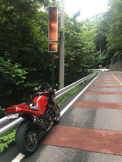 Transportation Land Vehicle Mode Of Transport Motorcycle Road Tree Day Outdoors Built Structure Real People Architecture One Person People Gpz900r Kawasaki Japan
