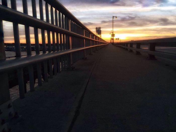 Bridge Railing Surface Level Sunset Beautiful Sunset CarolSharkeyPhotography Maine