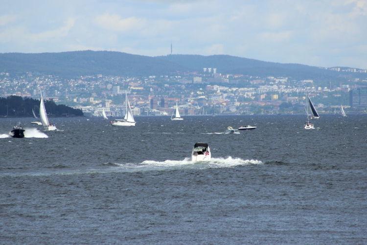 Boats Cityscape Day Motion Oslo Norway Oslofjord Outdoors Sea Sea Life Seascape Seaside Waterfront