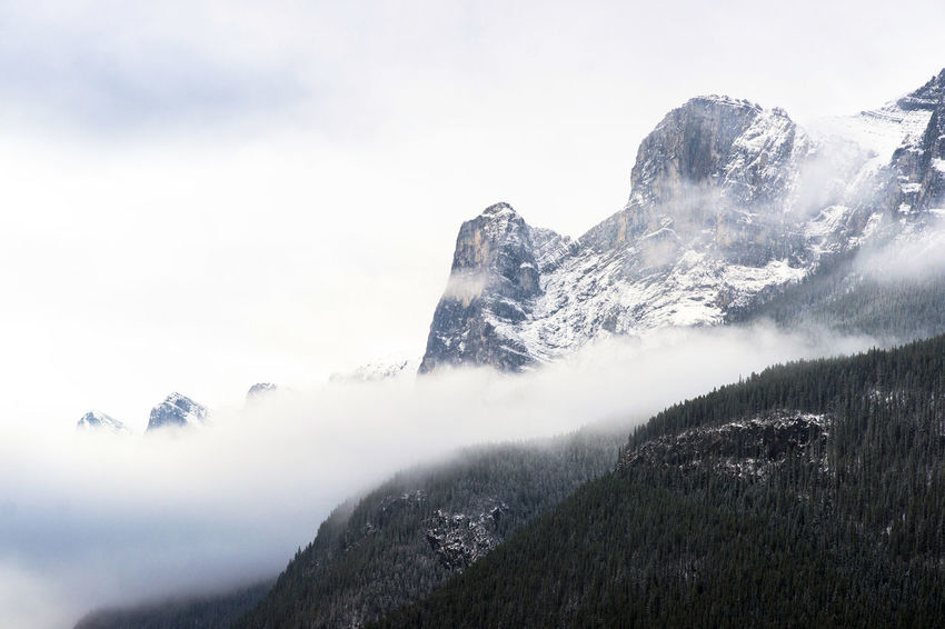 Banff National Park  Beauty In Nature Cloudy Sky Landscape Mountain Mountain And Clouds Outdoors Rocky Mountains Sky