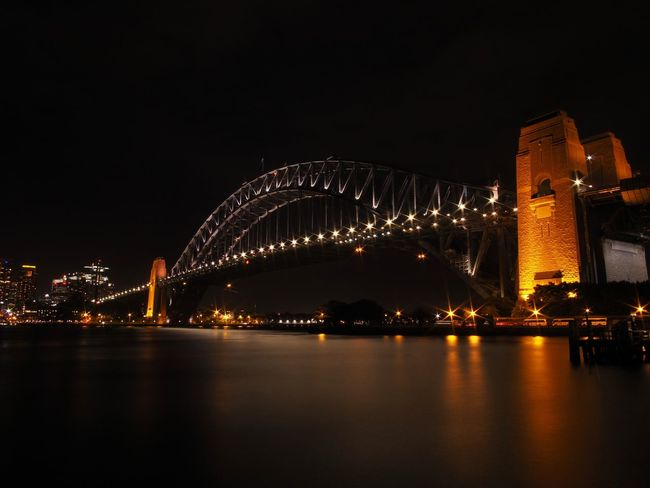 Architecture Australia Bridge - Man Made Structure Business Finance And Industry City Cityscape Harbor Harbour Bridge Icon Illuminated Midnight Night No People Outdoors Scenics Sydney Travel Destinations Urban Skyline