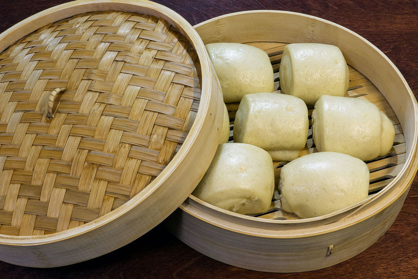 Bamboo - Material Basket Chinese Dumpling Chinese Food Close-up Day Dim Sum Dumpling  Food Food And Drink Freshness Indoors  No People Ready-to-eat Steamed  Still Life Table