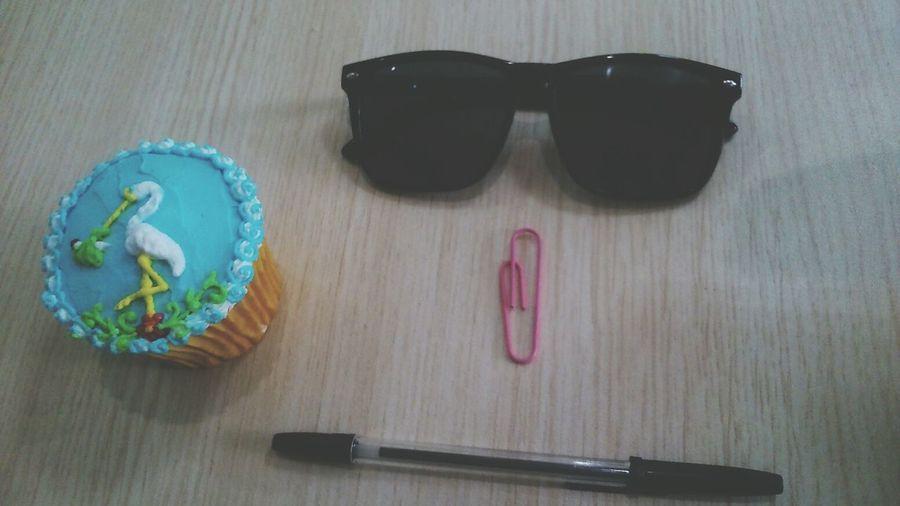 My Desk Today Cupcake Glasses